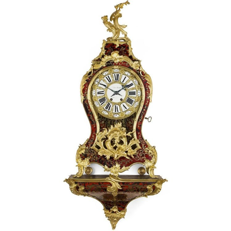 Louis XV Style Boulle Marquetry Bracket Clock