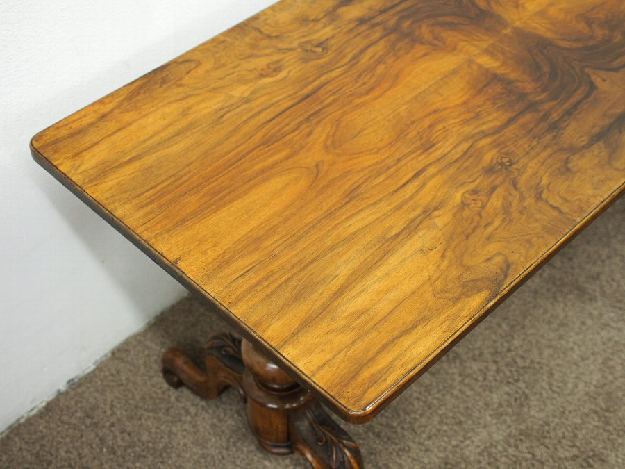 Antique Figured Walnut Occasional Table / Coffee Table