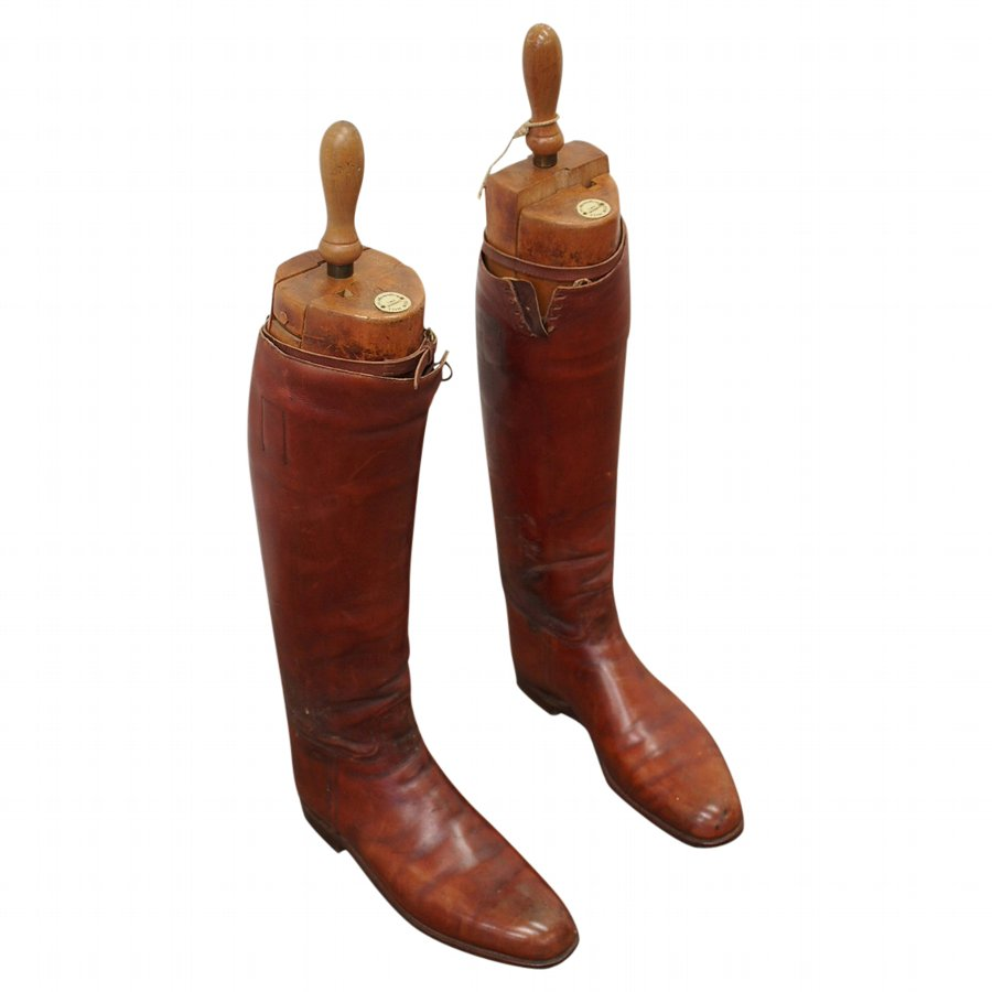 Pair of Victorian Leather Riding Boots