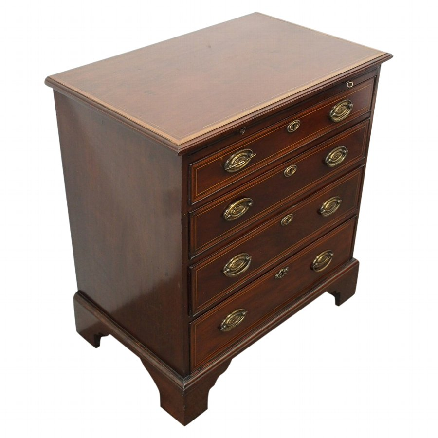 Neat George III Inlaid Mahogany Chest of Drawers