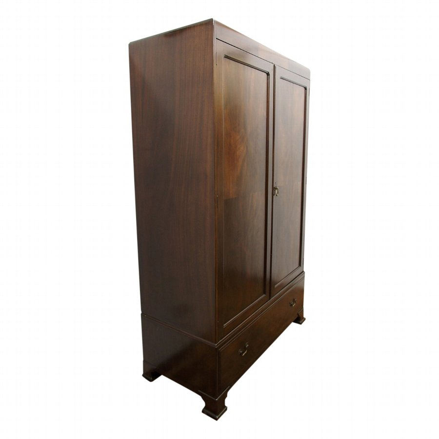 Two Door Mahogany Wardrobe by Whytock and Reid
