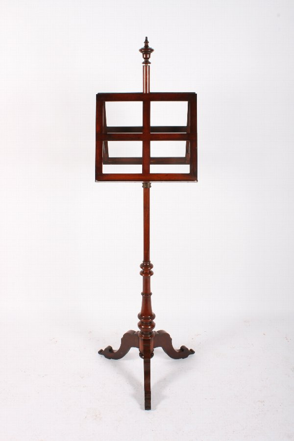 Antique Victorian Mahogany Duet Music Stand