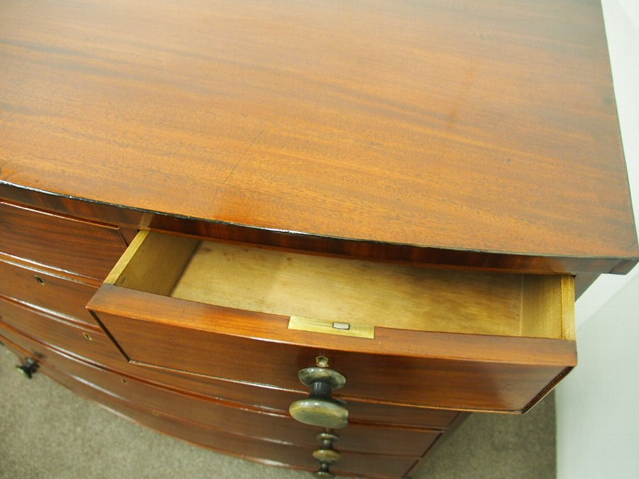 Antique George III Mahogany Bow Fronted Chest of Drawers