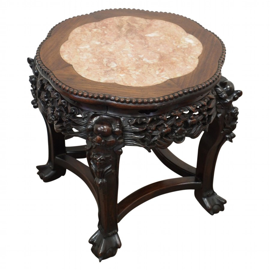 Chinese Rosewood Jardiniere Stand
