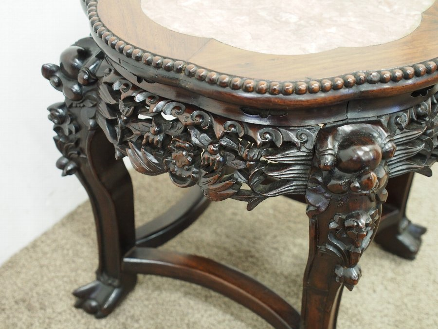 Antique  Chinese Rosewood Jardiniere Stand