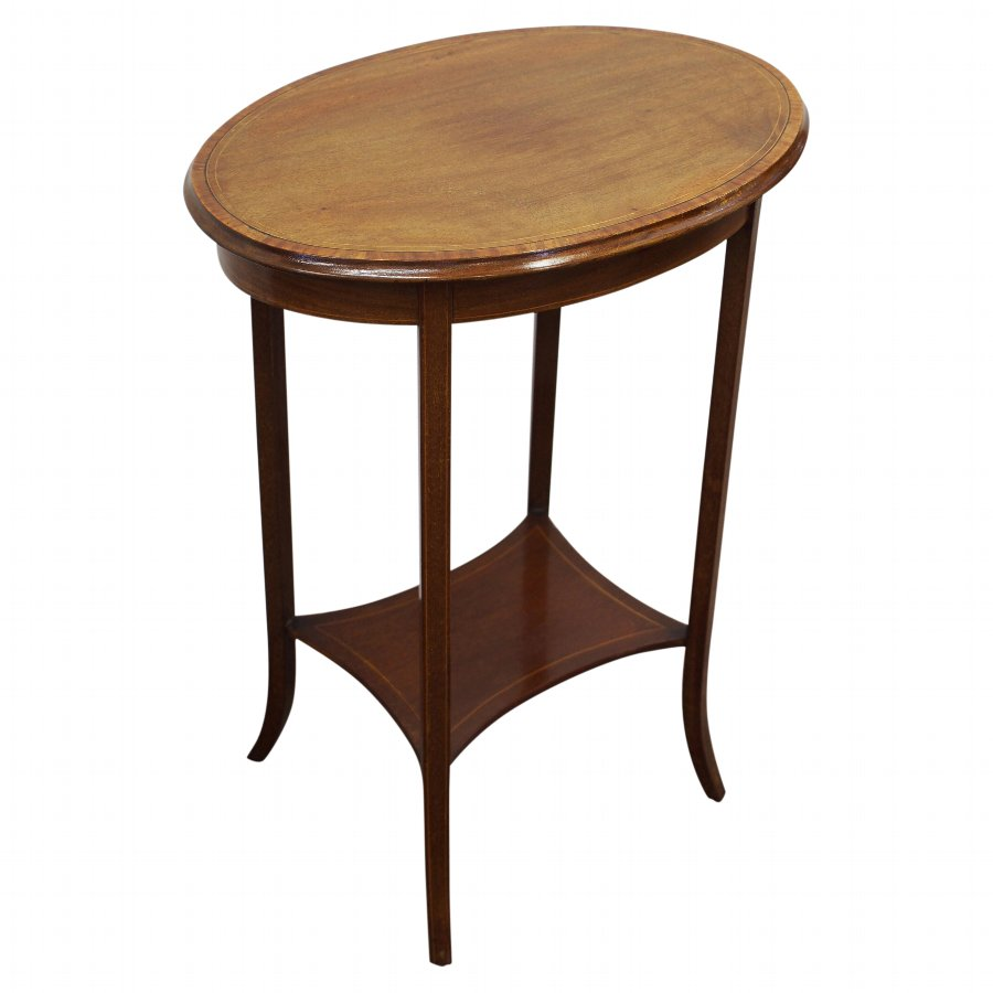 Sheraton Style Inlaid Mahogany Occasional Table