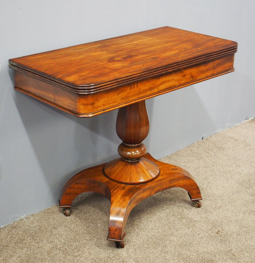 William IV Mahogany Fold Over Table