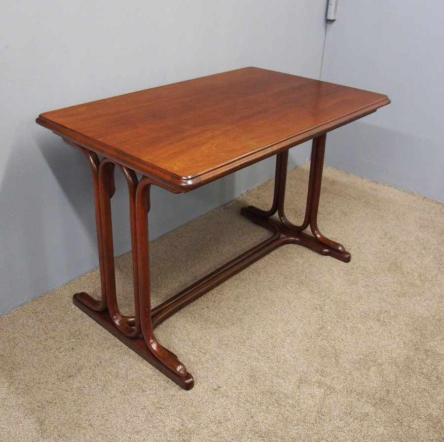 Bentwood and Mahogany Table or Desk