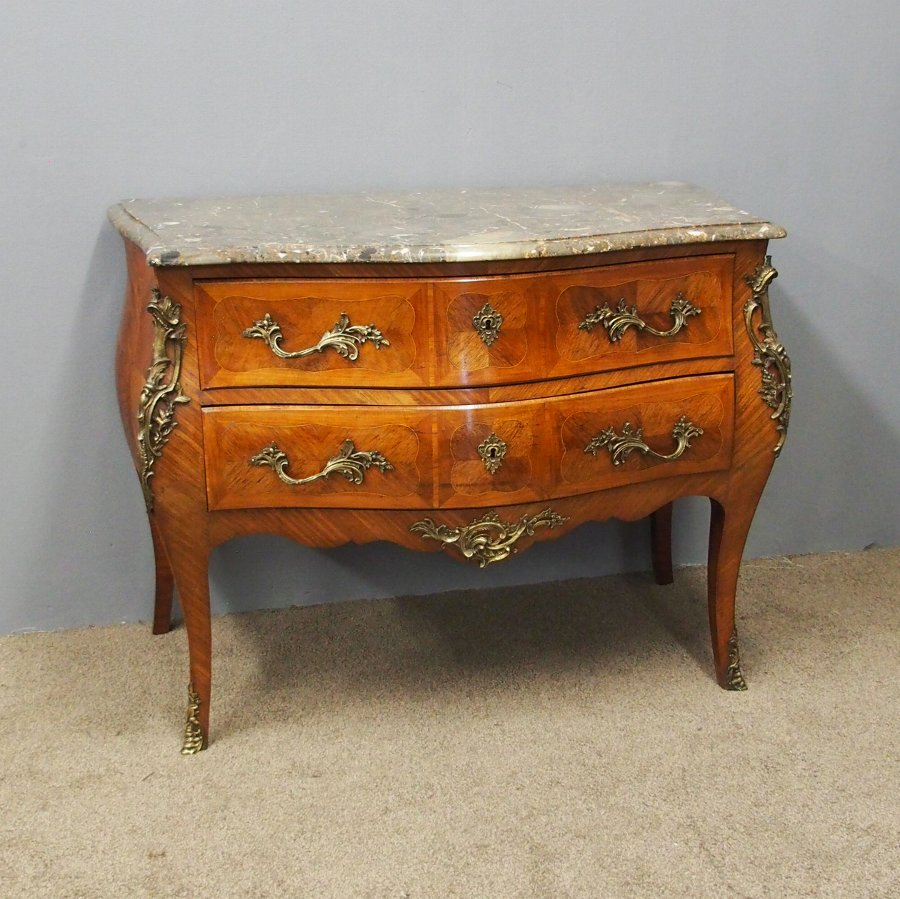 Large Louis IV Style French Kingwood Commode