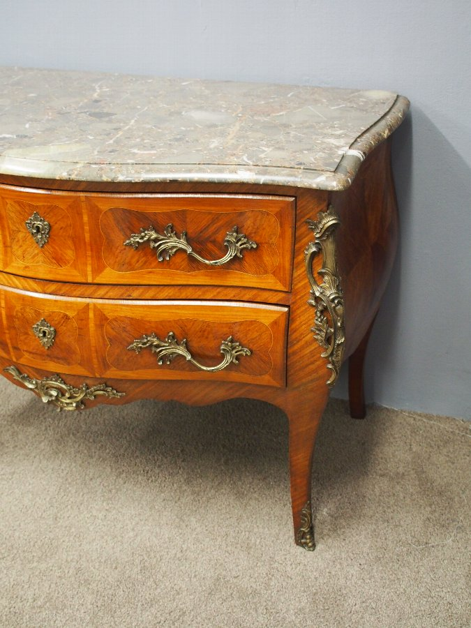 Antique Large Louis IV Style French Kingwood Commode