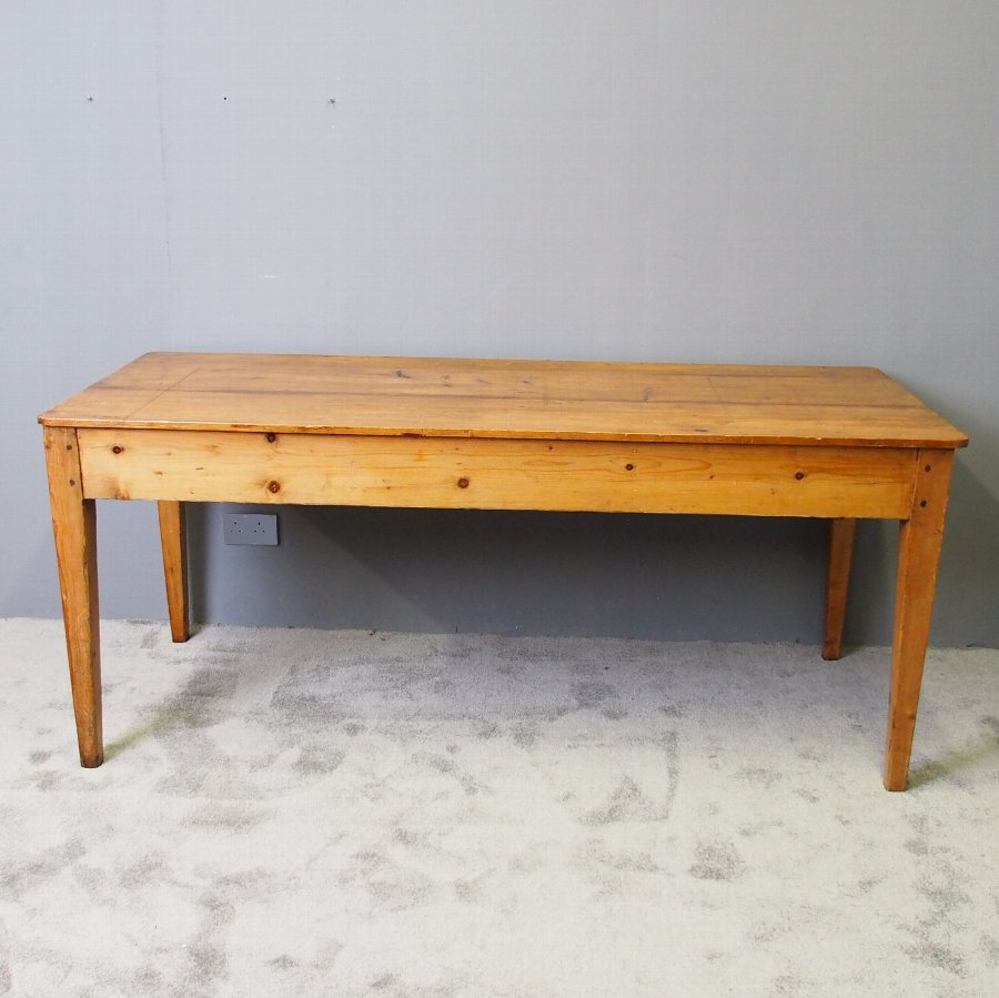 Victorian Yellow Pine Kitchen Table