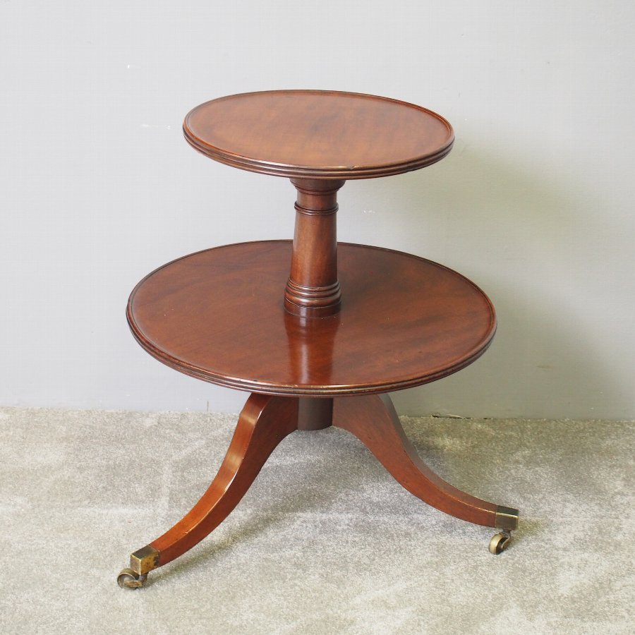 George III Two Tier Mahogany Dumb Waiter