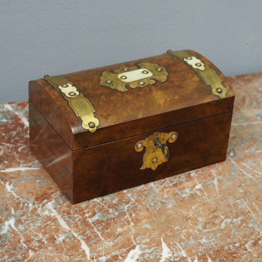 Victorian Dome Top Tea Caddy