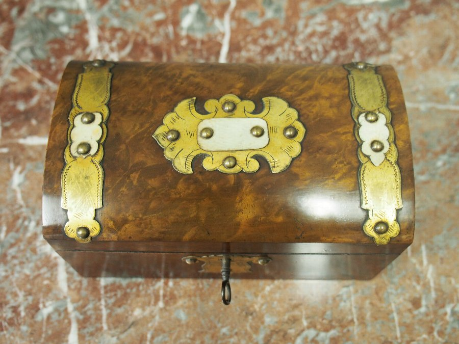 Antique Victorian Dome Top Tea Caddy