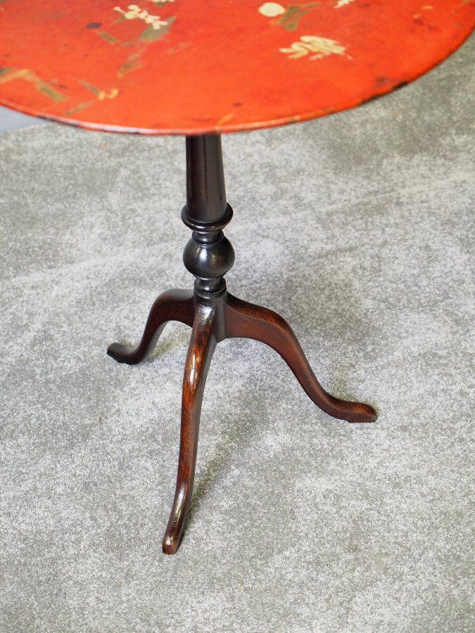 Antique Metal and Hardwood Occasional Table