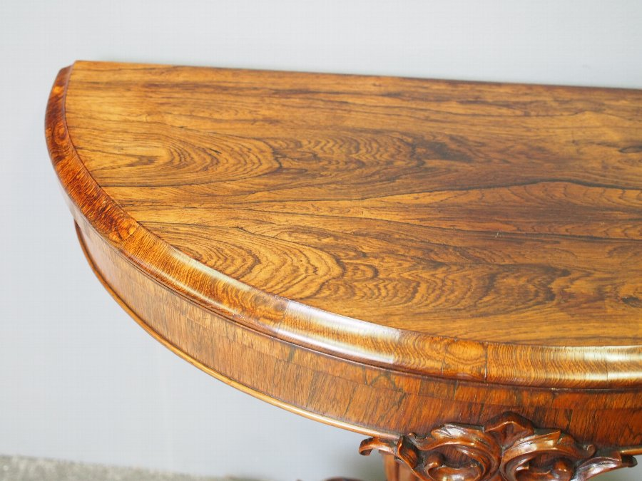 Antique Victorian Rosewood Games Table