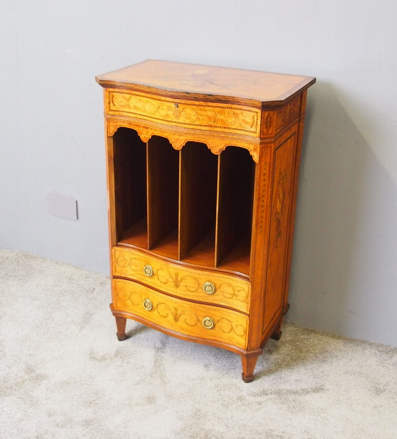 George III Style Inlaid Music Cabinet