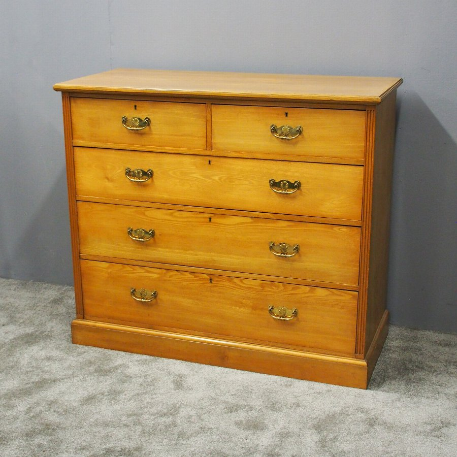 Late Victorian Ash Chest of Drawers