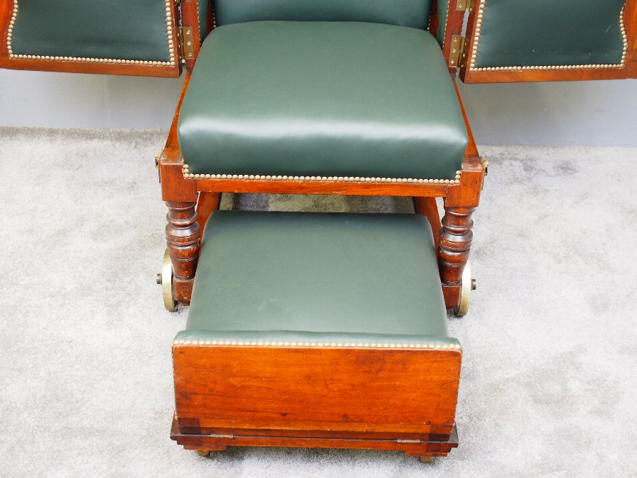 Antique Victorian Mahogany Invalid Chair