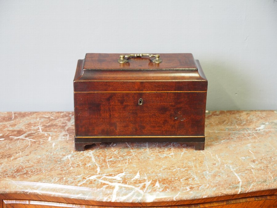 Antique Early Georgian Mahogany Tea Caddy