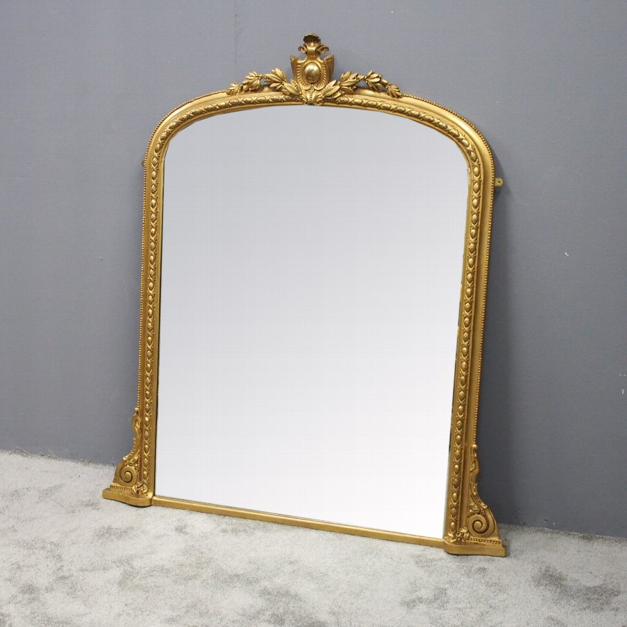 Antique Victorian Carved And Gilded Overmantel Mirror 1 Antiques Co Uk