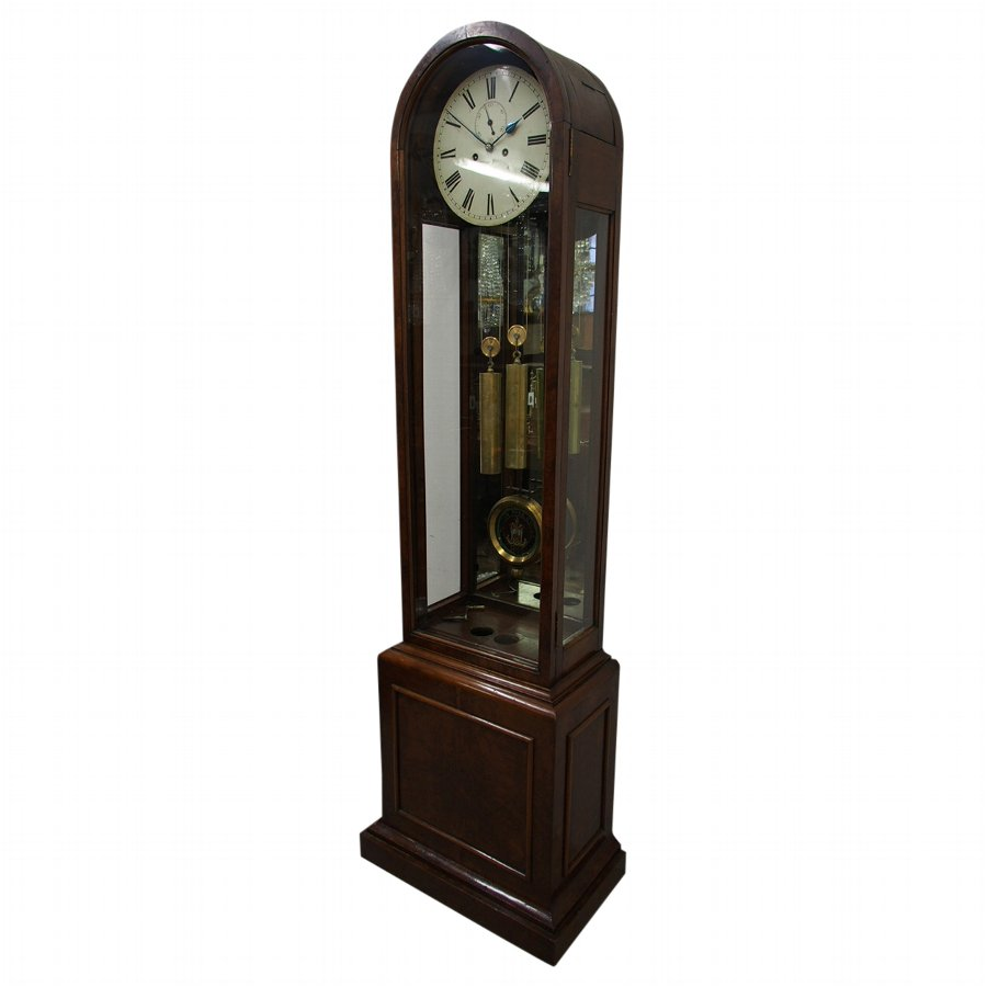 Domed Top Walnut and Burr Walnut Clock By William Barr of Govan