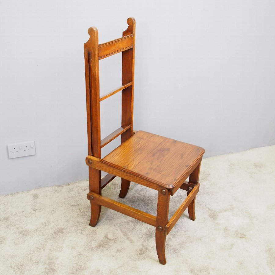 Arts and Crafts Oak Metamorphic Chair or Steps