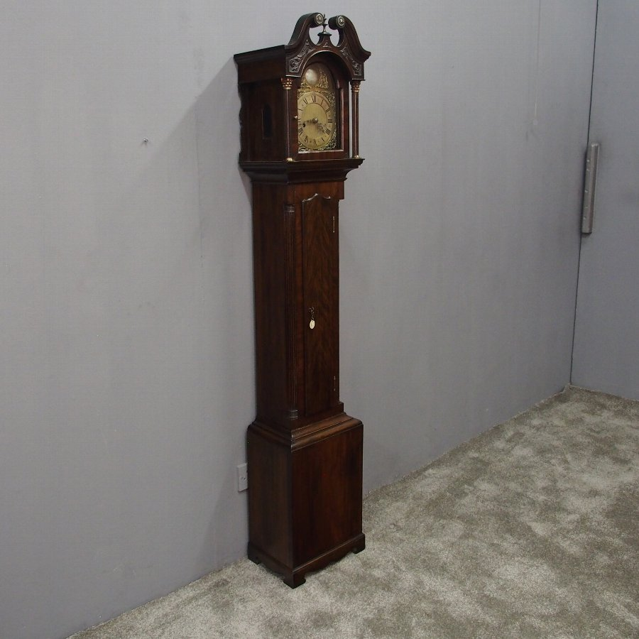 George III Style Mahogany Grandmother Clock by D.E. Norrie, Leith