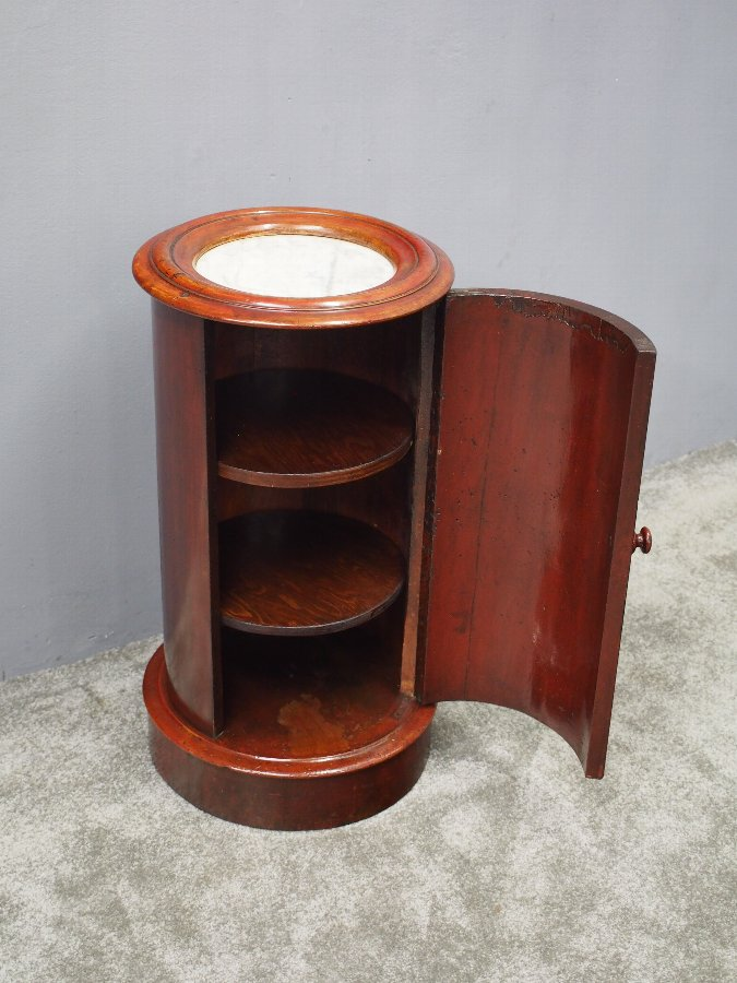 Antique Victorian Mahogany Cylindrical Pot Cupboard