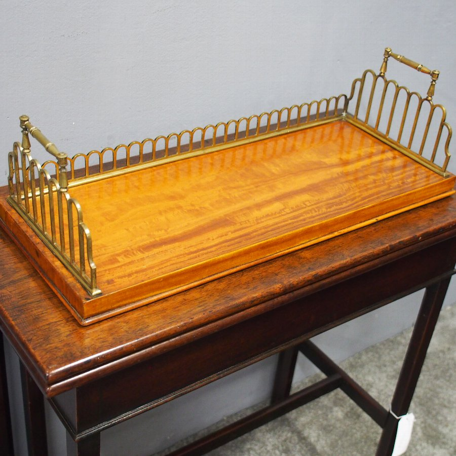 William IV Satinwood and Brass Book Trough