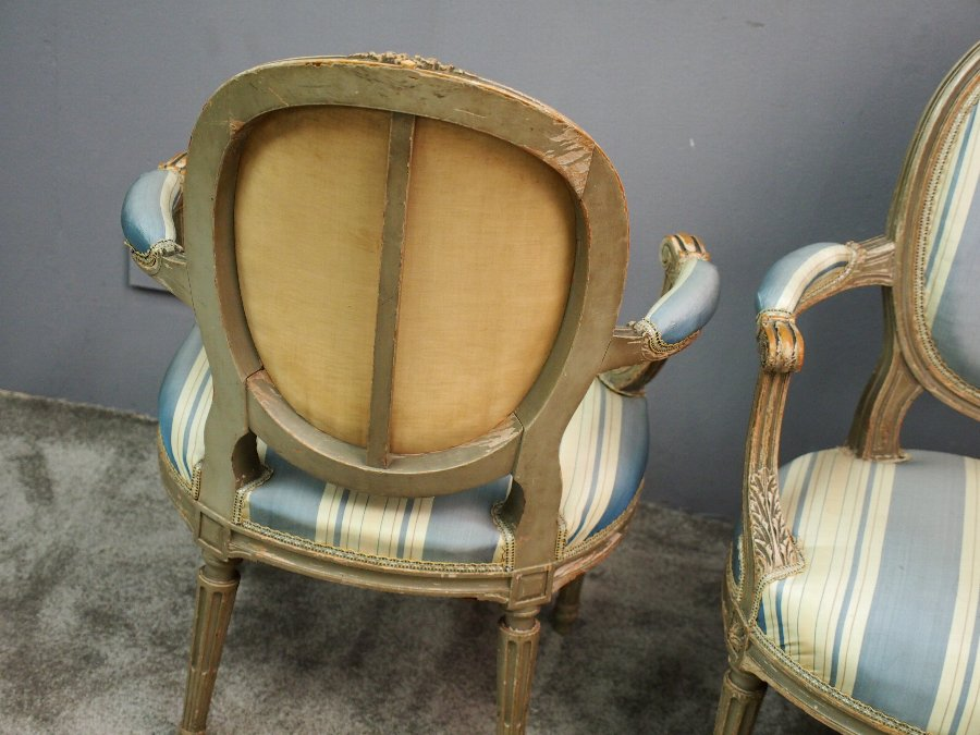 Antique Pair of George III Style Armchairs