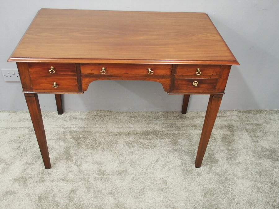 Antique George III Mahogany Side Table or Writing Table