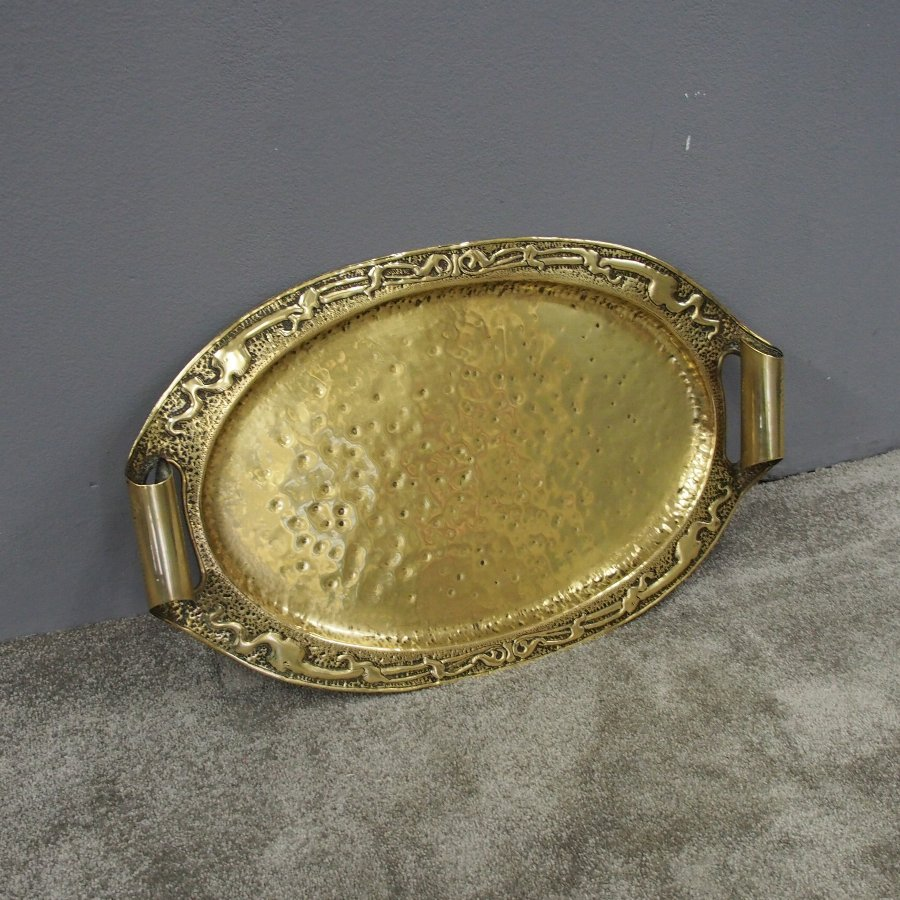 Ritchie of Iona Style Cast Brass Tray