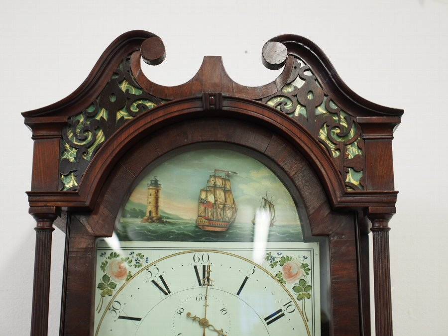 Antique George IV Mahogany Longcase Clock by J Dodds of Wigton