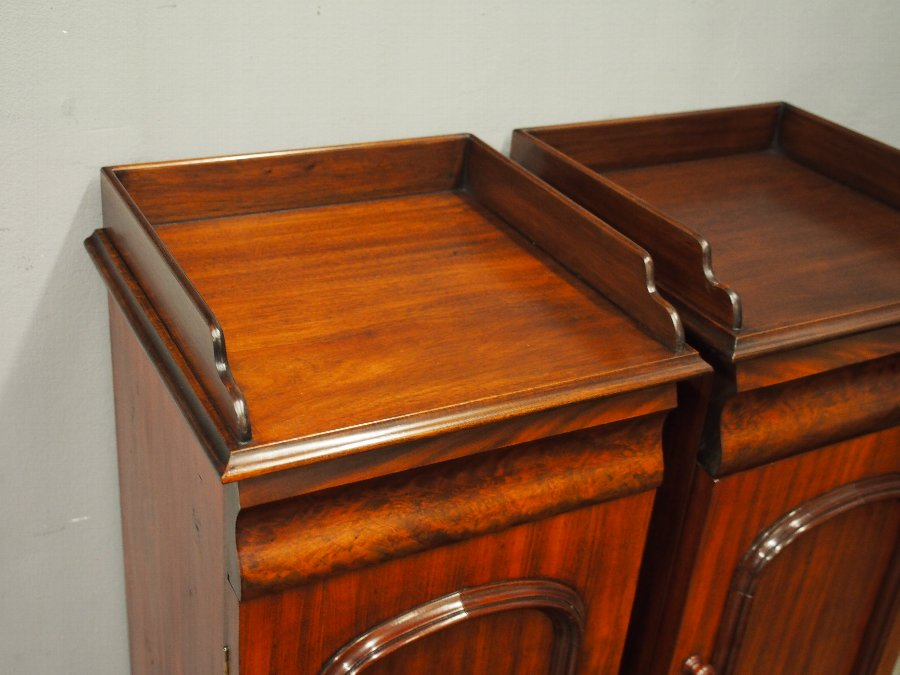 Antique Pair of Victorian Mahogany and Pine Bedsides