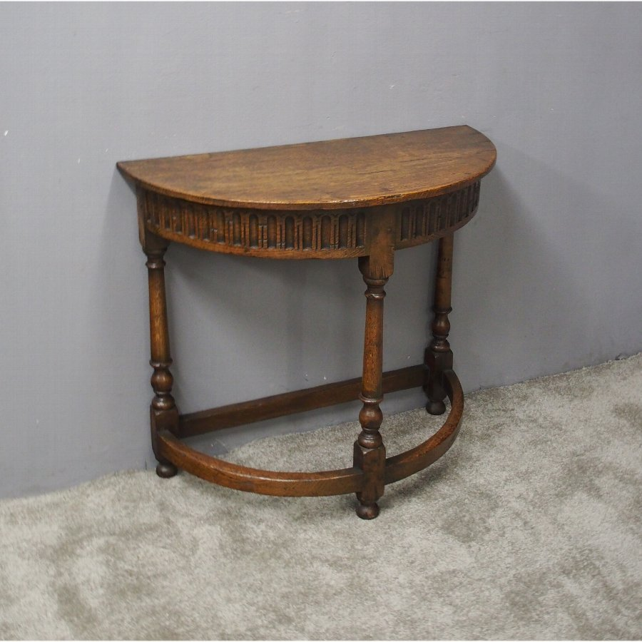 Jacobean Style Oak Side or Hall Table