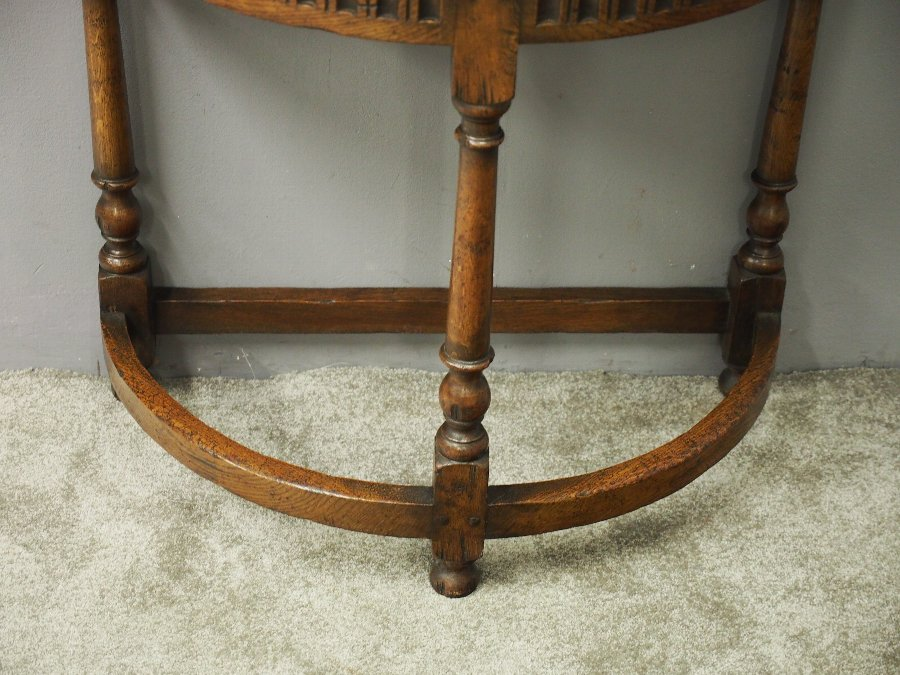 Antique Jacobean Style Oak Side or Hall Table