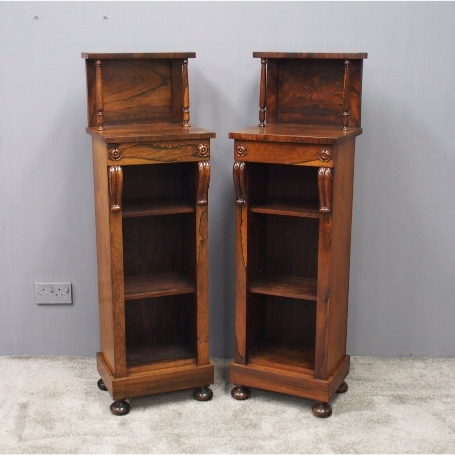 Pair of George IV Rosewood Bookcases