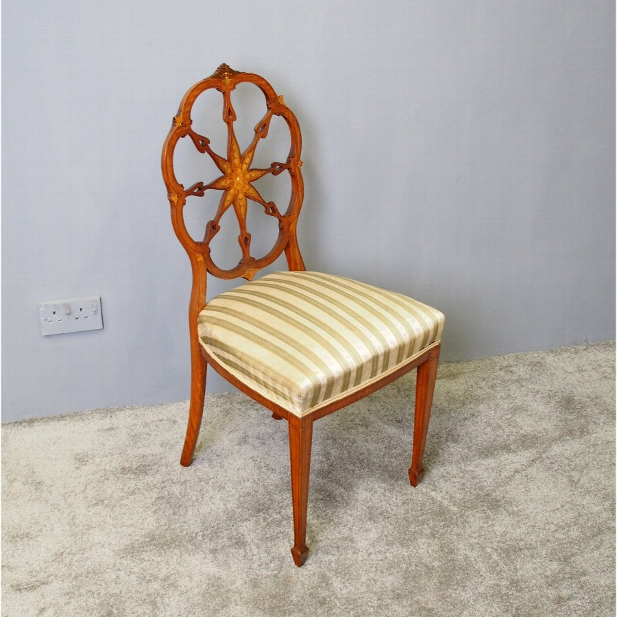 Satinwood and Inlaid Side Chair