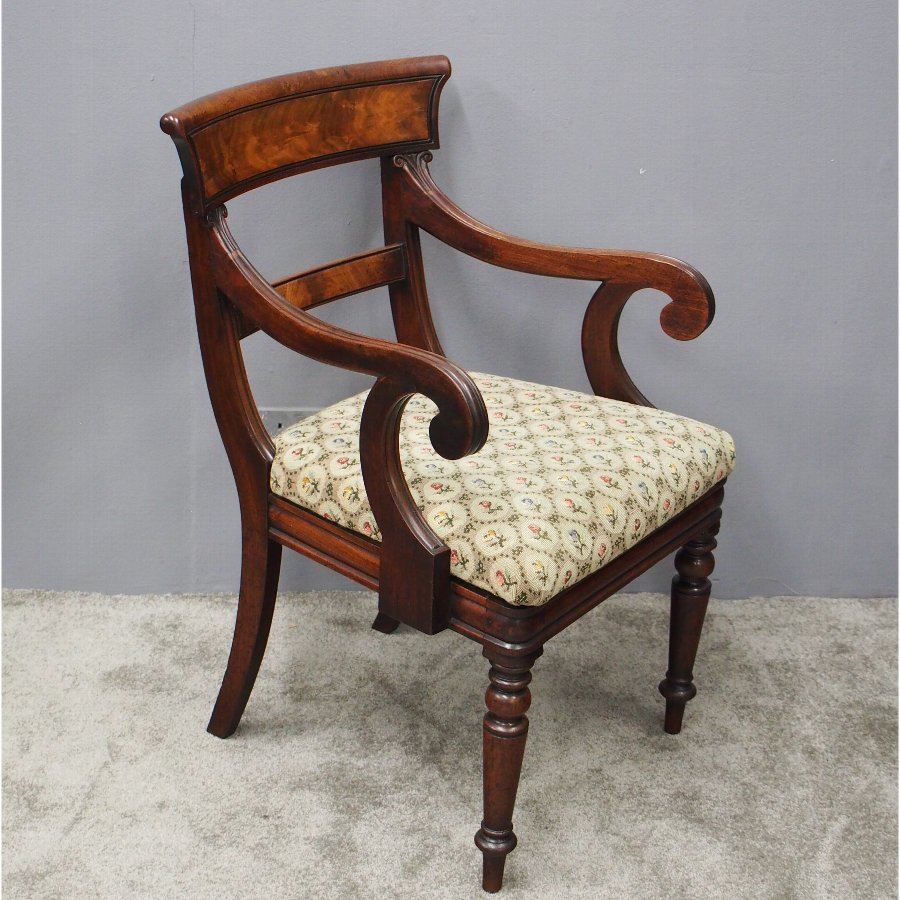 William IV Mahogany Armchair