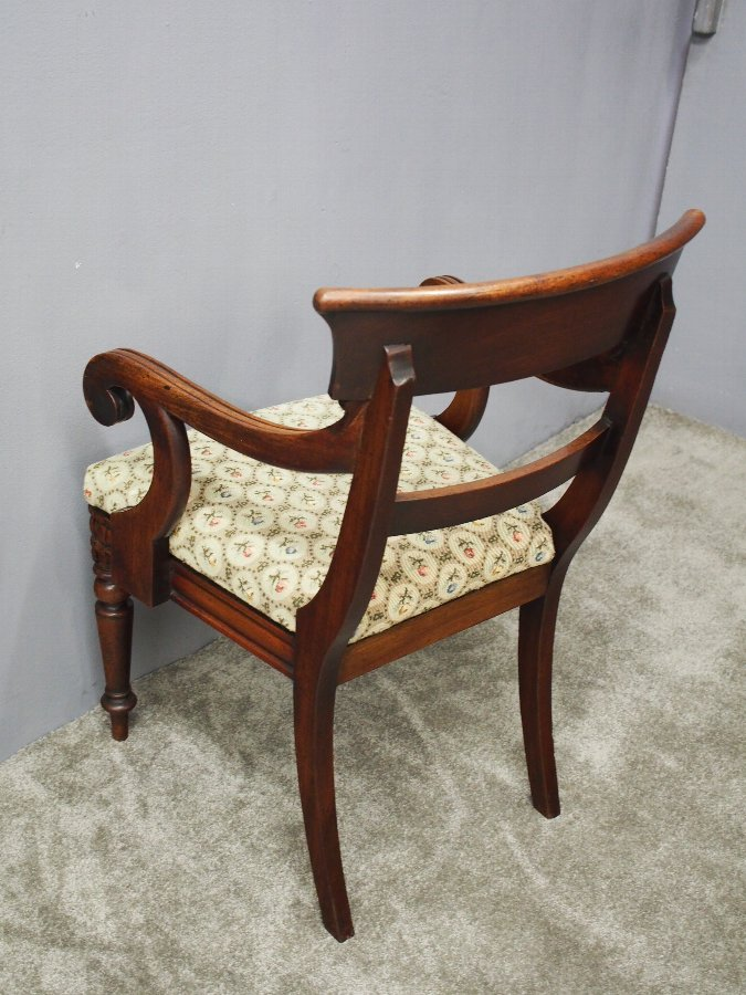 Antique William IV Mahogany Armchair