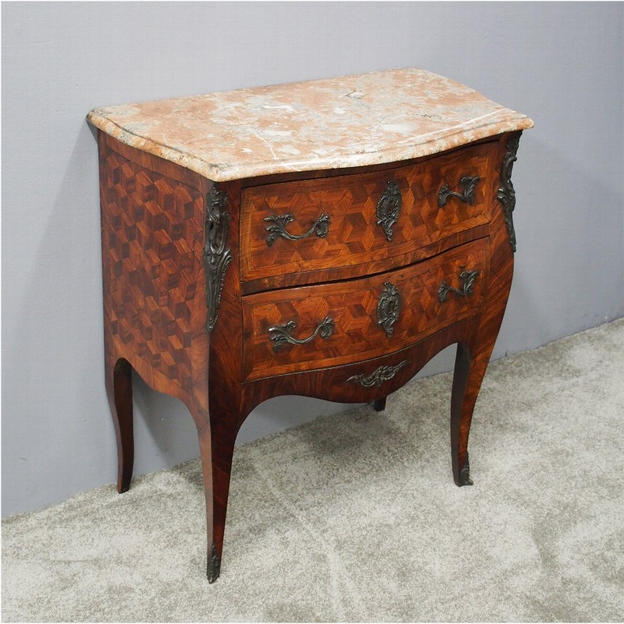 Small French Marble Top Commode