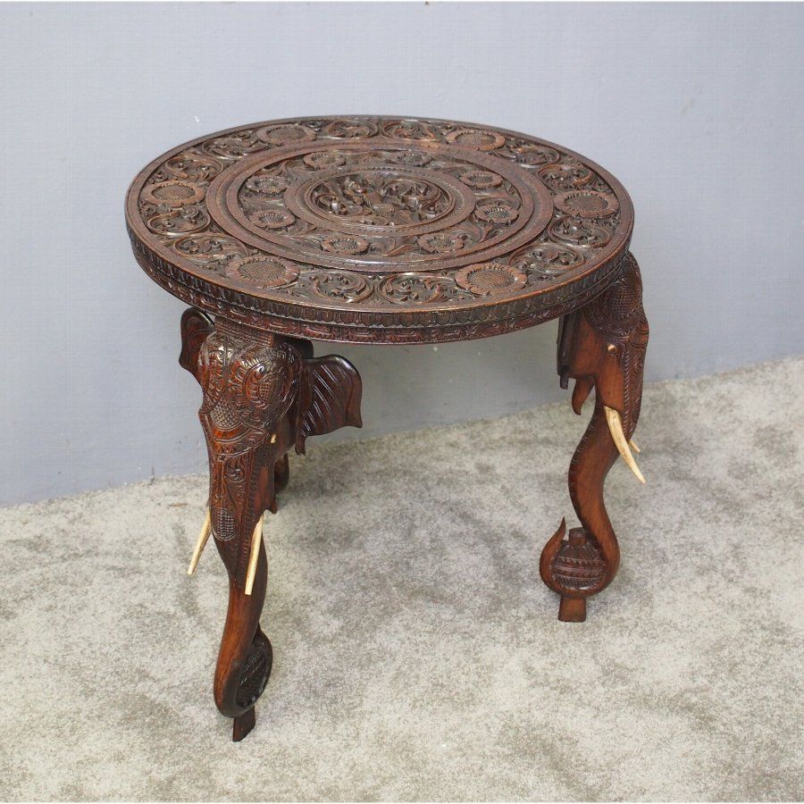 Elephant Design Anglo-Indian Occasional Table