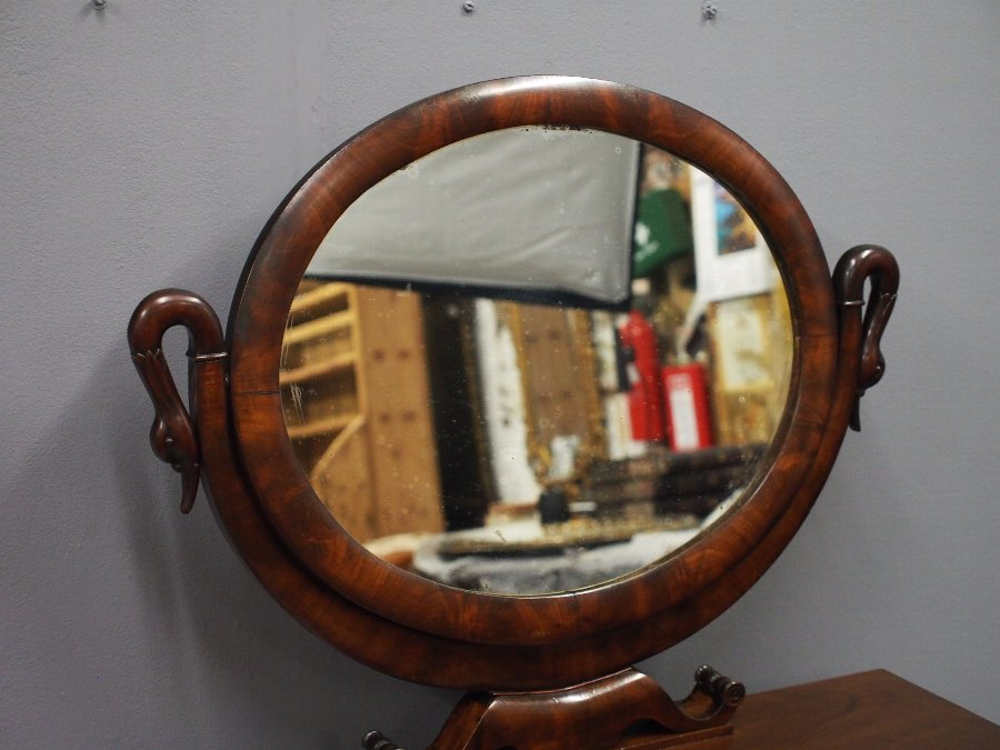 Antique Second Empire Mahogany Dressing Table