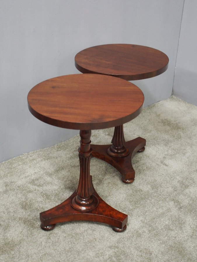 Antique Pair of 19th Century Mahogany Occasional Tables