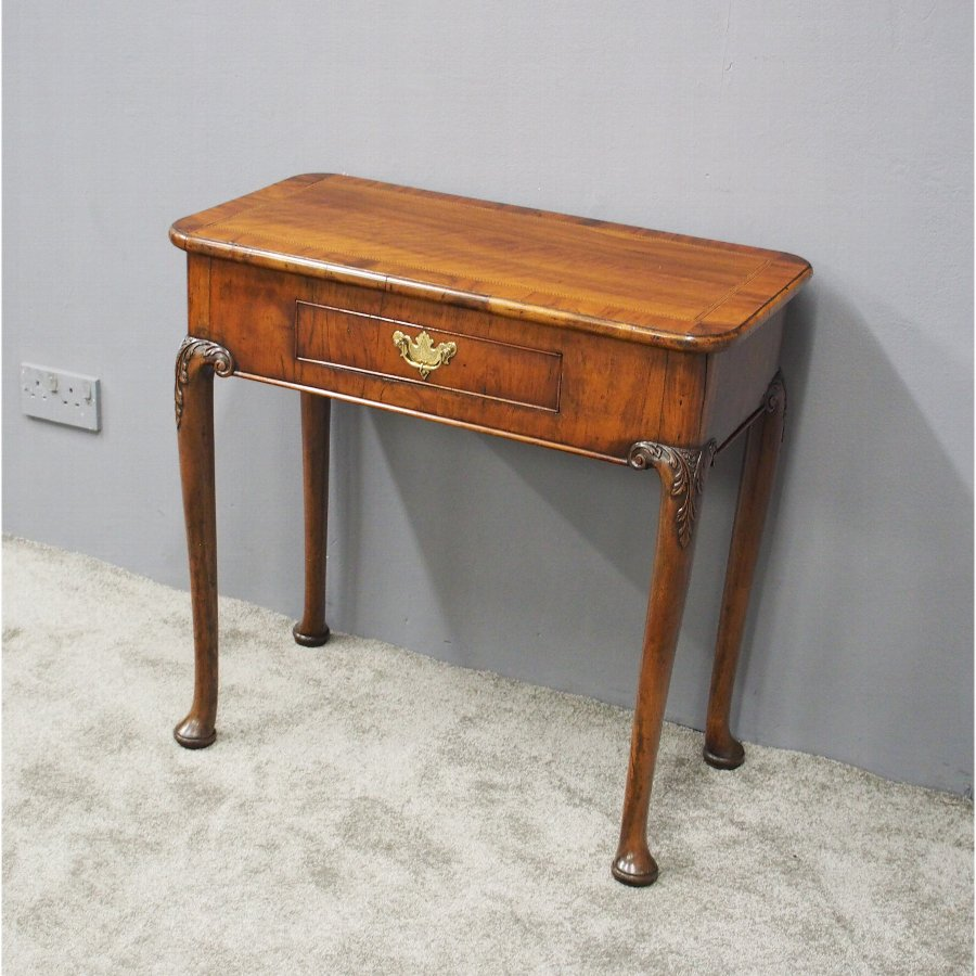 Georgian Inlaid Walnut Lowboy or Side Table