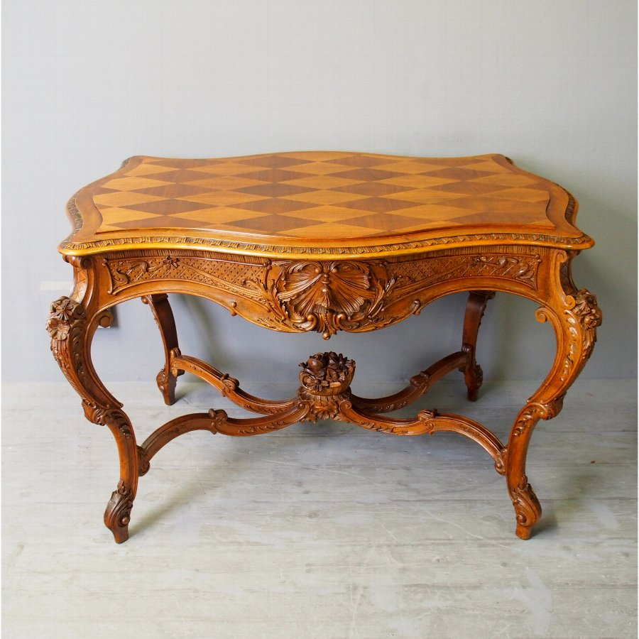 Victorian French Walnut Centre Table