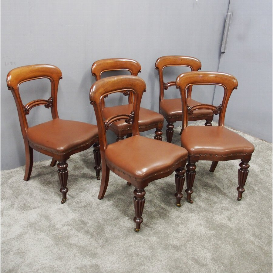 Set of 5 Mid Victorian Dining Chairs