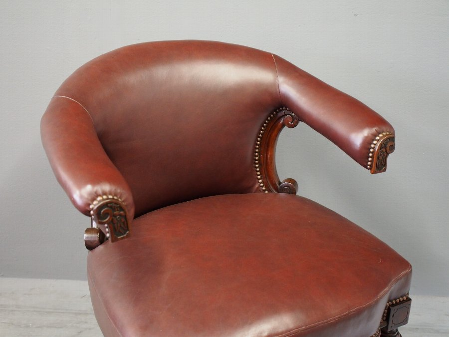 Antique Mahogany Library or Cockfighting Chair