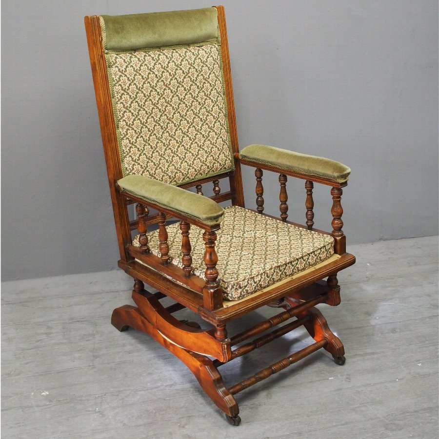 Red Walnut American Rocking Chair